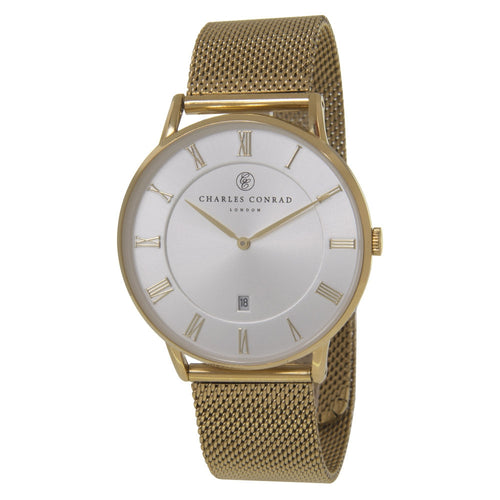 Charles Conrad Gold Mesh Watch CC02032