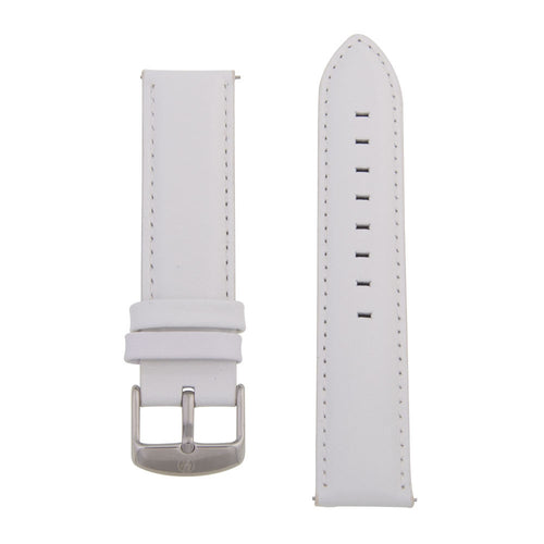 Charles Conrad White Leather Strap CDA1006-15-L23 (silver buckle)