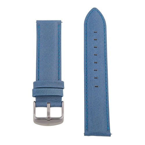 Charles Conrad Blue Leather Strap CDA1006-15-L7 (silver buckle)