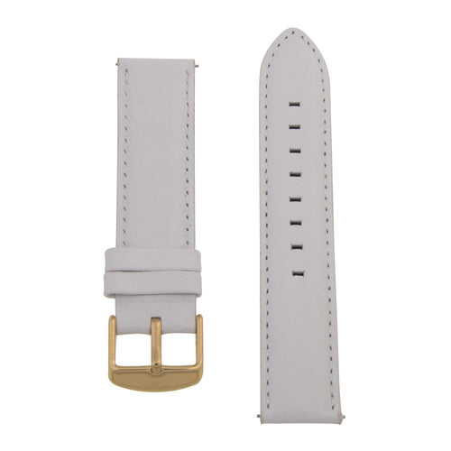 Charles Conrad White Leather Strap CDA1006-17-L24 (gold buckle)