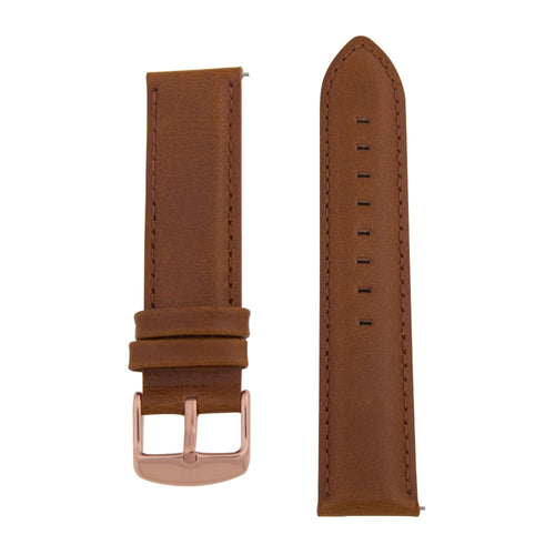 Charles Conrad Brown Leather Strap CDA1006-18-L9 (rose gold buckle)