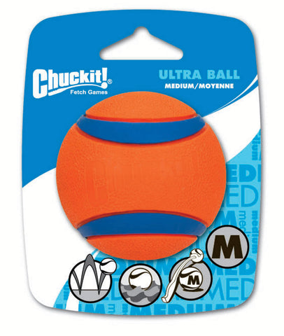 Chuckit ultra rubber ball dog toy
