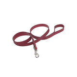 Circle T oak tanned leather dog leash red