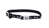 Safe Cat adjustable breakaway cat collar black