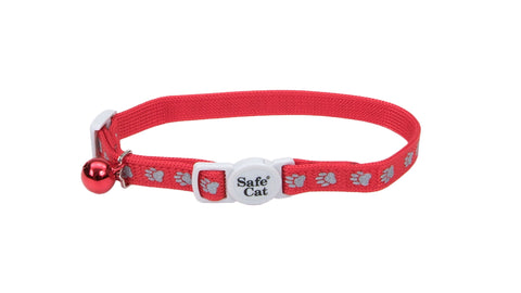 Safe Cat adjustable breakaway cat collar red