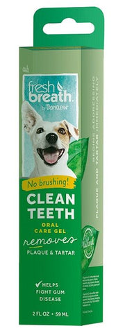 TropiClean fresh breath clean teeth oral care gel for dogs and cats