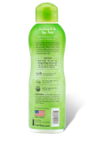 TropiClean oatmeal and tea tree dog shampoo back