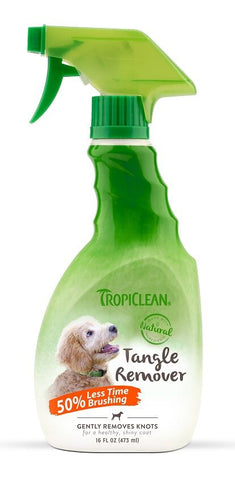 TropiClean tangle remover spray for dogs and cats front