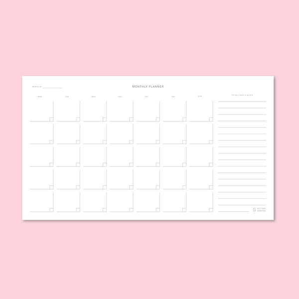 Minimalist Monthly Notepad