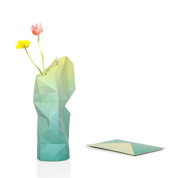 Paper Vase Cover - Green Fade