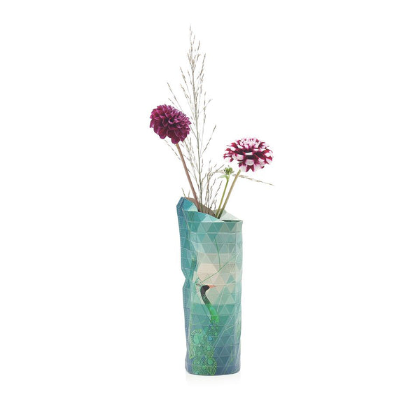 Paper Vase Cover - Peacock (Small)