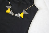 Geometric Plexiglass Necklace (Yellow)