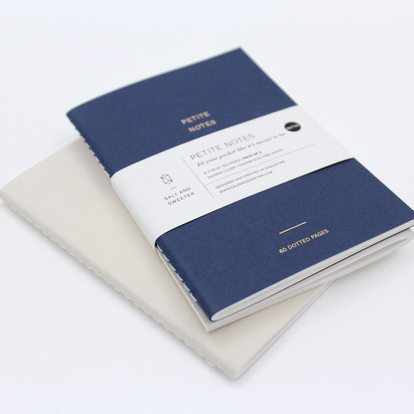 Petite Notes Twin Pack (Navy Blue/Cream)
