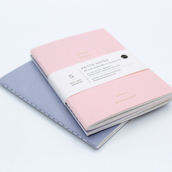 Petite Notes Twin Pack (Pastel Pink/Blue)