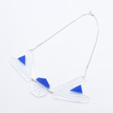 Asymmetric Necklace (Clear/Blue)