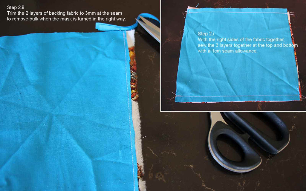 How to sew your own face mask - step2