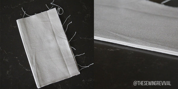 How to grade seams side view