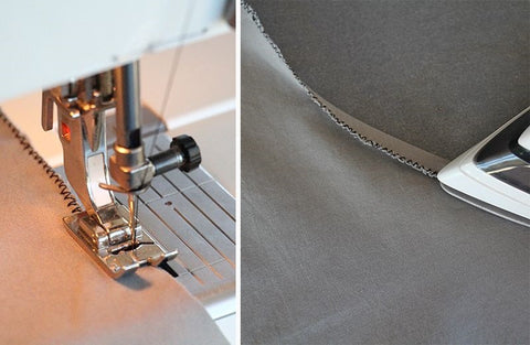 How to sew a curved hem without a serger