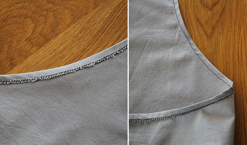 How to sew a curved hem without an overlocker