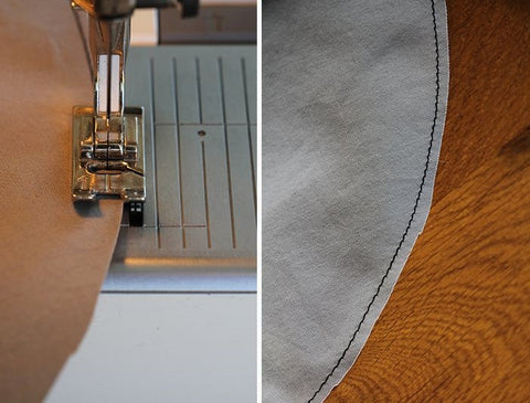 how to sew a convex curve