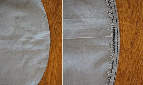How to hem a convex curve finished