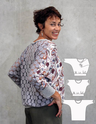 Womens Batwing top sewing pattern