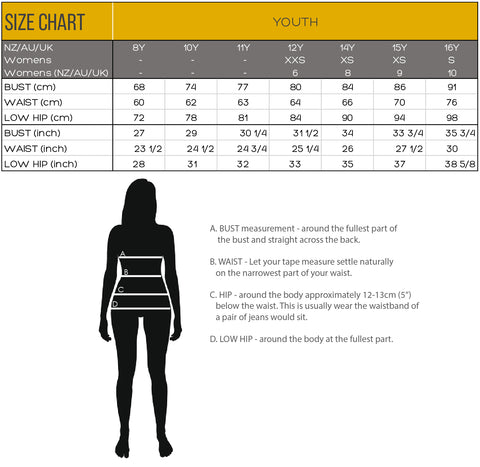 Size Guide (Youth)