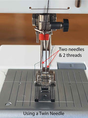 Using a Twin Needle for stretch sewing