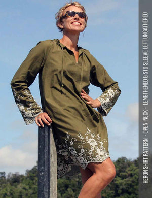 Heron shirt sewing pattern hack