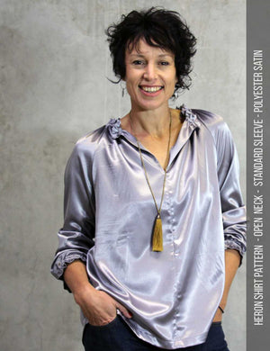 Womens shirt sewing pattern - heron top