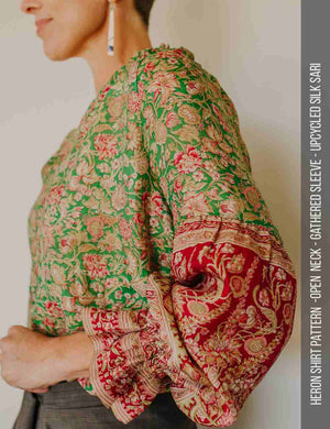 Gathered sleeve womens top sewing pattern