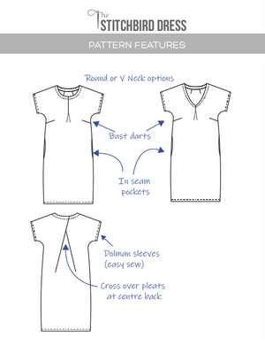 Stitchbird sewing pattern sketch