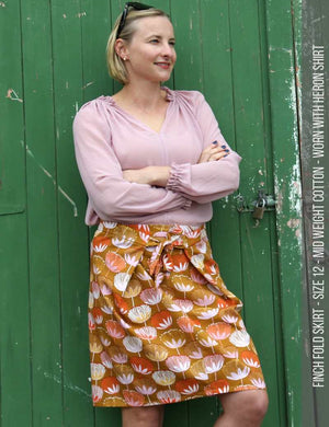 Finch fold skirt PDF sewing pattern