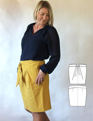 Flora fold skirt PDF sewing pattern