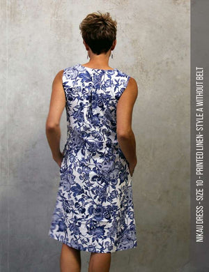 Nikau dress PDF sewing pattern - back view
