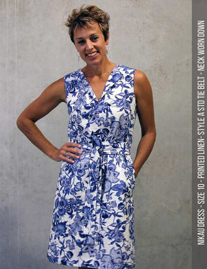 Nikau dress PDF sewing pattern -front view