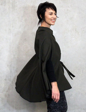 Womens cape sewing pattern side view