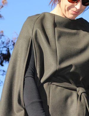 Womens cape PDF sewing pattern close up