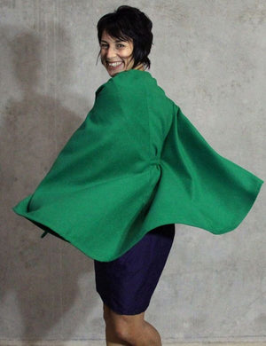 Womens cape pdf sewing pattern rear view