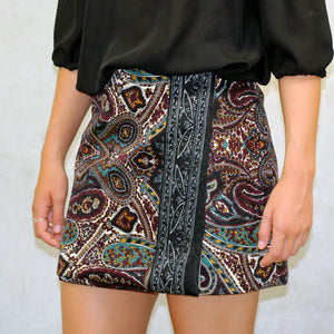 Beginner Wrap Skirt with patterned fabric panel