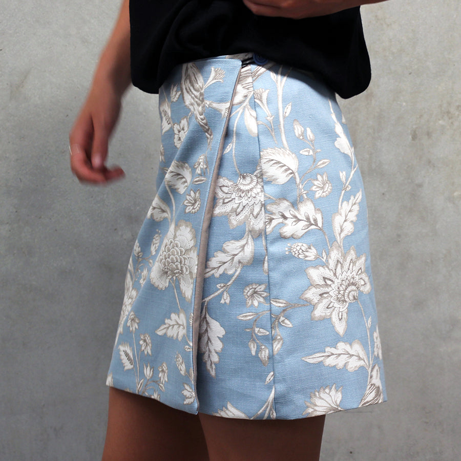 Beginner wrap skirt sewing pattern