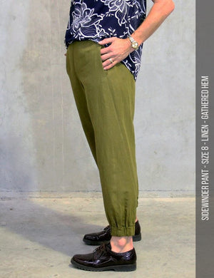 womens pant sewing pattern - side seam view