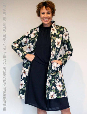 summer coat sewing pattern - cotton sateen