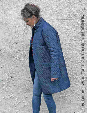 Mallard coat sewing pattern- quilted denim