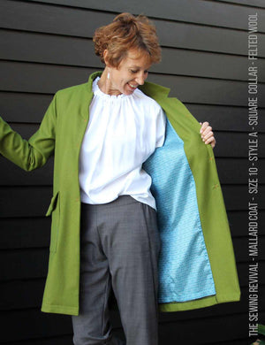 Mallard coat sewing pattern - wool