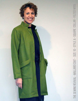 Coat sewing pattern - long - wool