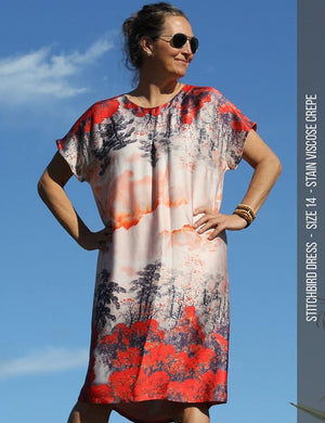 Stitchbird dress PDF sewing pattern-viscose