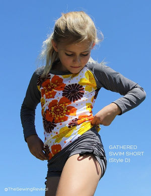Kids swimwear sewing pattern
