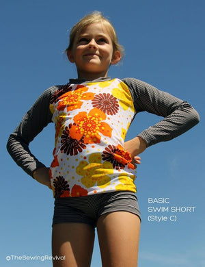 Swimshorts and rashtop sewing pattern