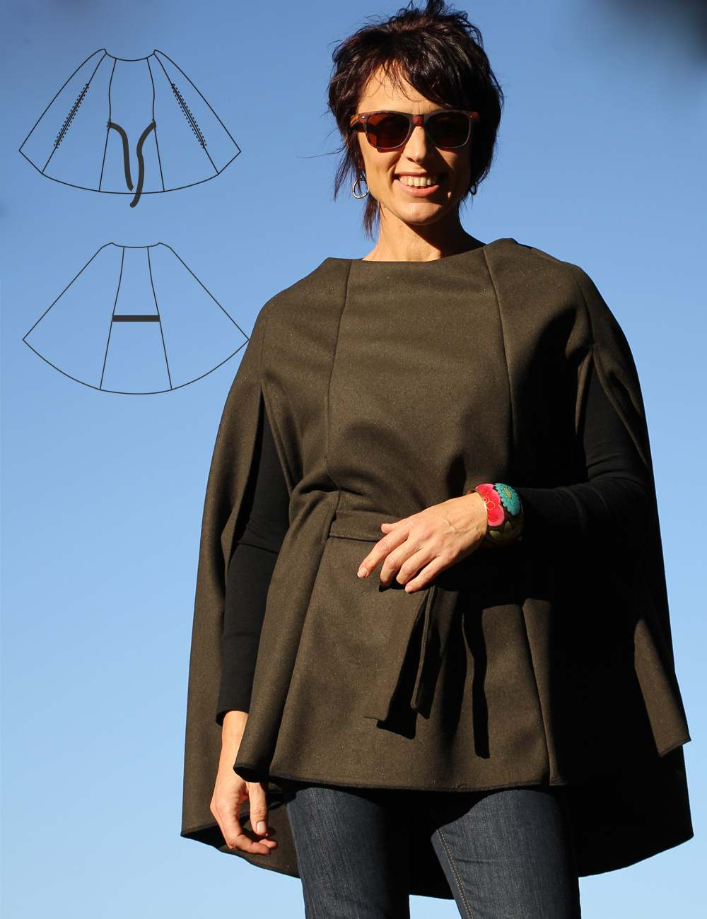 Cape PDF sewing pattern